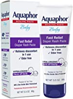Aquaphor Baby Diaper Rash Paste - Fast Relief For Troublesome Diaper