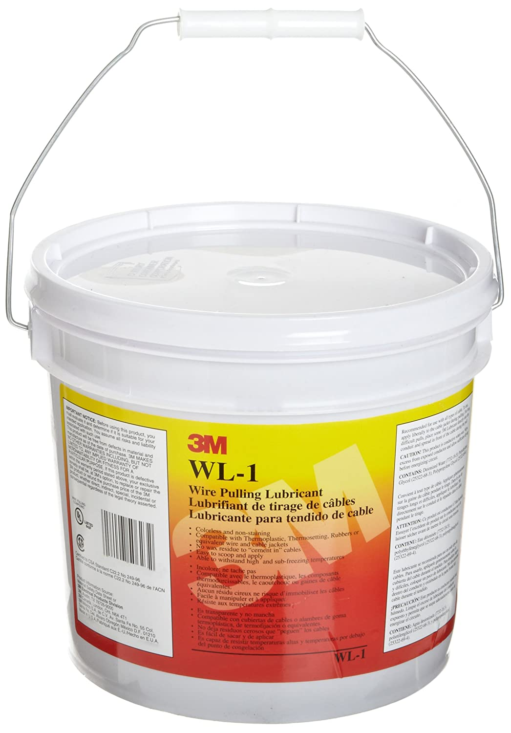 3M Clear Wire Pulling Lubricant WLC-1, 1 Gallon (Pack of 1 ...