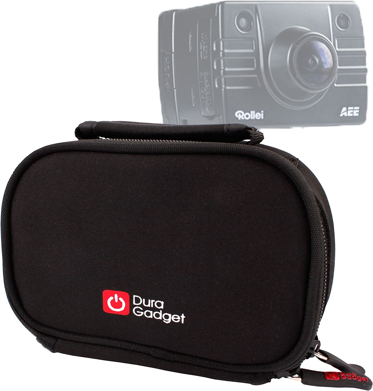 DURAGADGET Black Neoprene Lightweight Zip-Locked Case Compatible with The DBPOWER N5 4K Action Camera