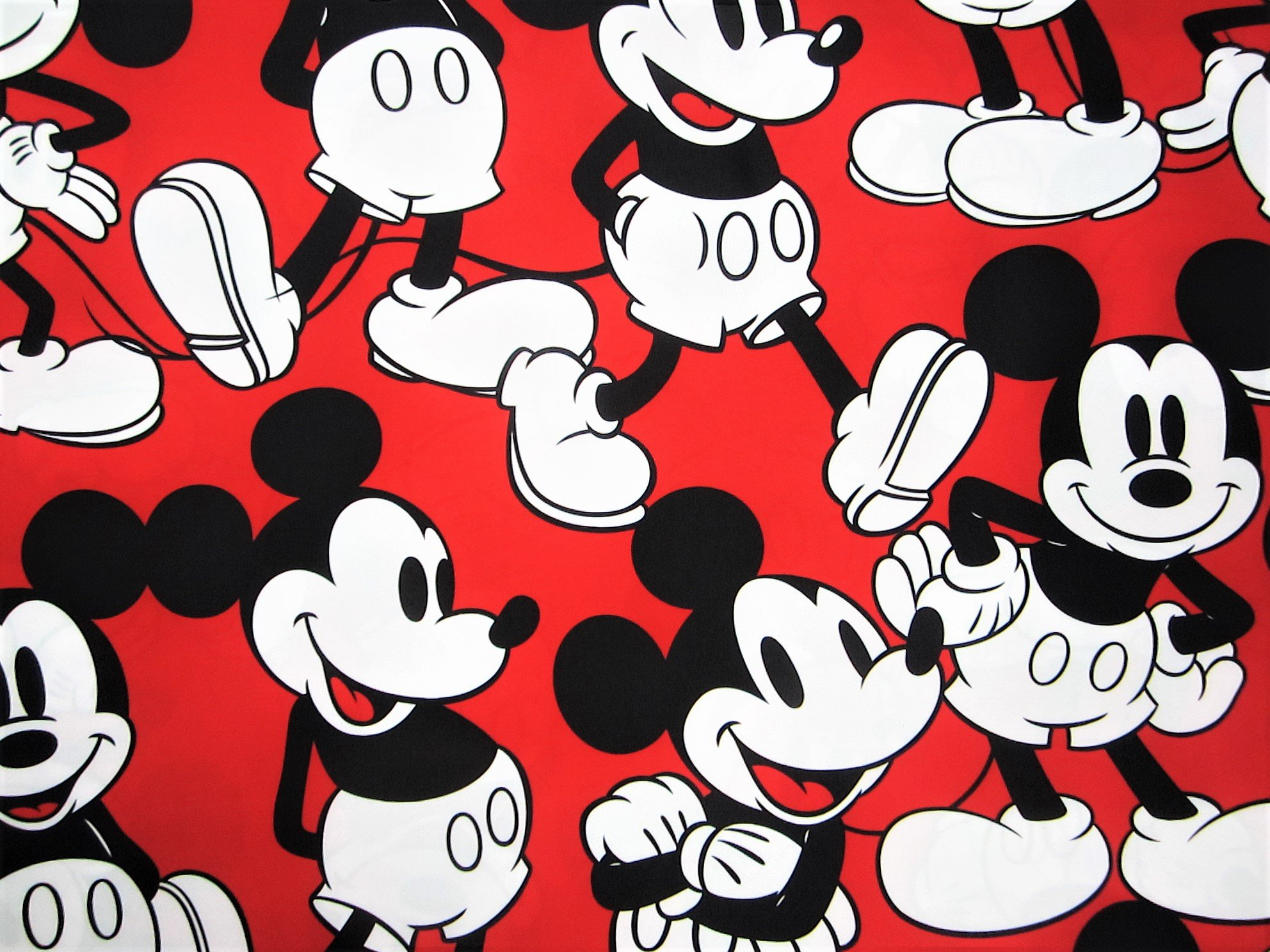 Mickey Mouse Cheerful Mickey 100% Microfiber (FLAT SHEET ONLY) Size TWIN Boys Girls Kids Bedding