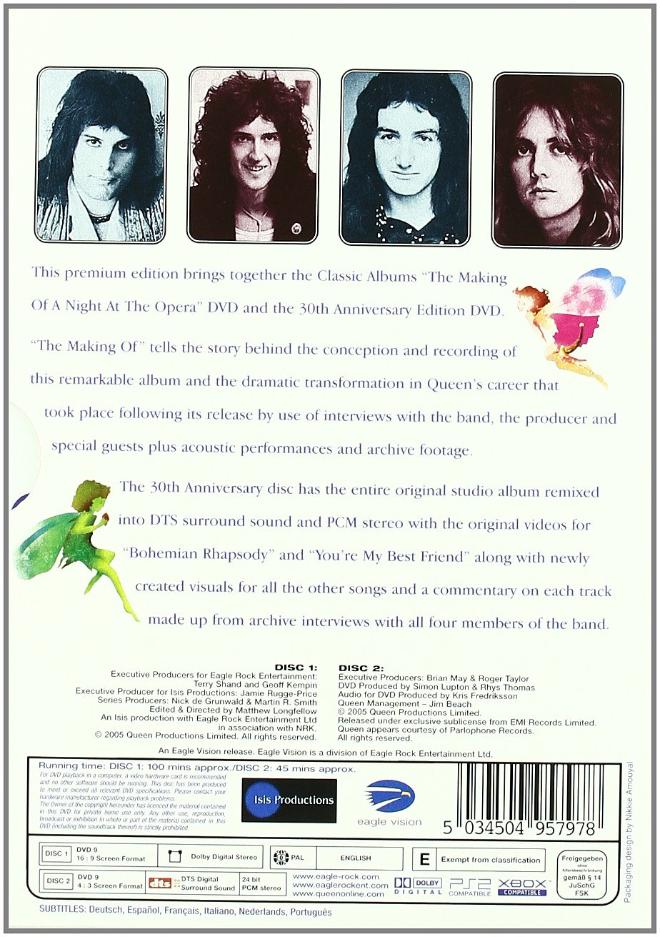 Queen - A Night At The Opera Special Edition Classic Album Reino Unido DVD: Amazon.es: Queen, Matthew Longfellow: Cine y Series TV