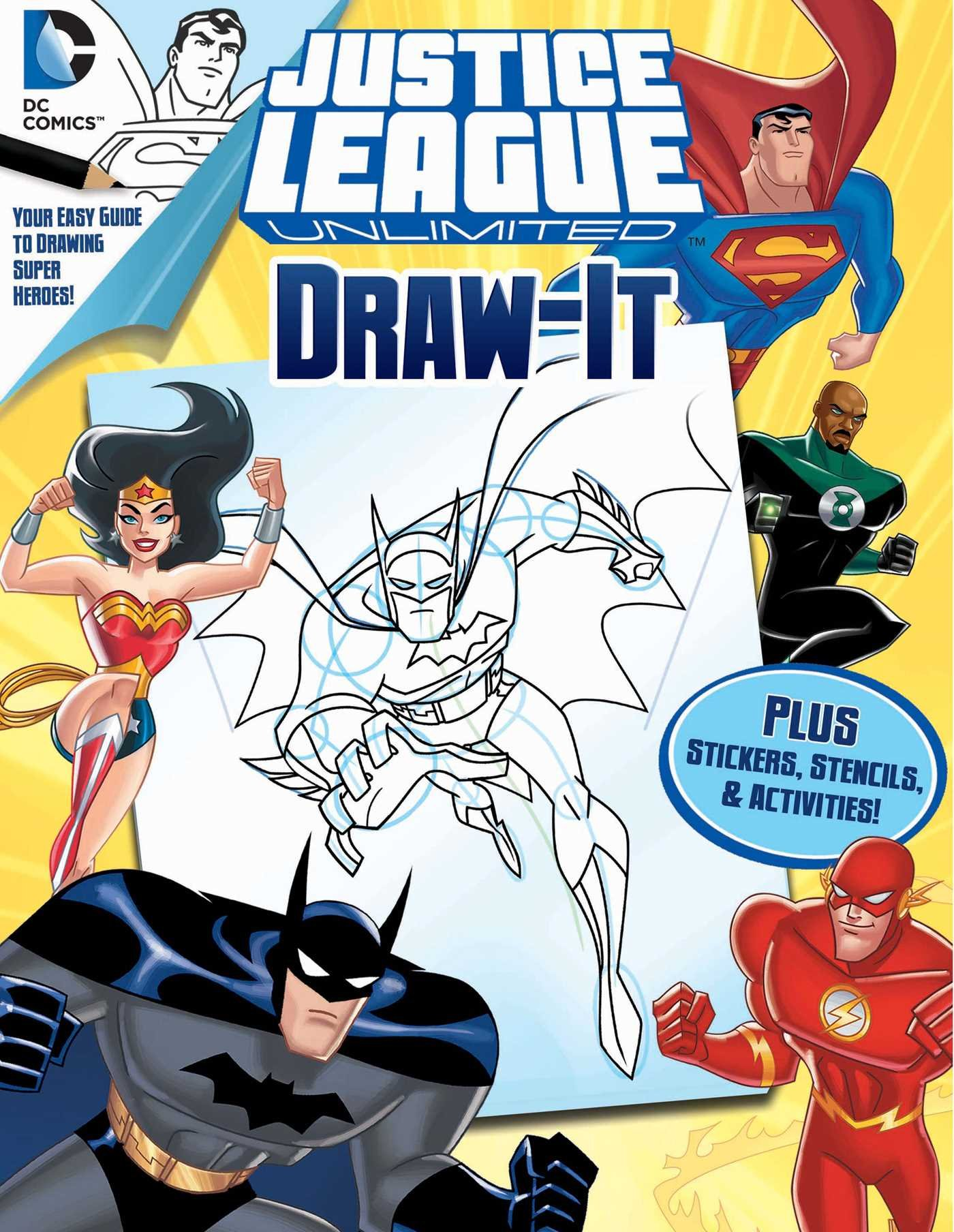 Dc Justice League Draw It Love To Draw Dc Justice League