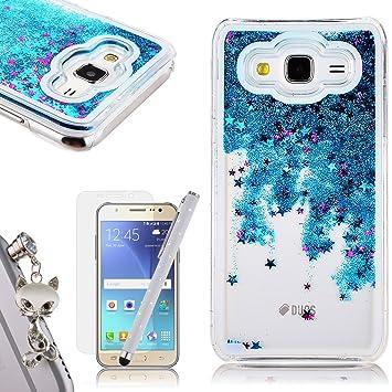 Funda Samsung Galaxy J5, We Love Case Bling Arena Funda Samsung Galaxy J5 2015 Glitter Fluido Líquido Movediza Lentejuelas, Quicksand Estrellas Funda ...