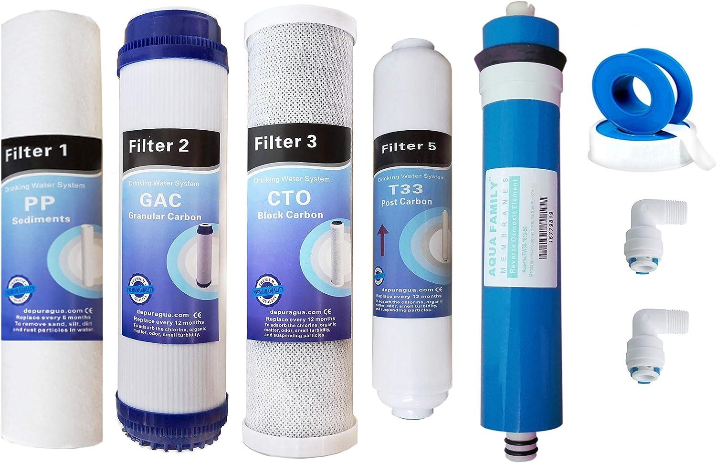 "FILTRO di Ricambio-Set osmosi inversa 6 mesi Filtro Set 10/"" 3 pezzi Premium"