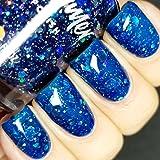 I Got A Crush On Blue Glitter Nail Polish- 0.5 oz Full Sized Bottle