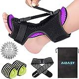 2020 New Upgraded Purple Night Splint for Plantar Fascitis, AiBast Adjustable Ankle Brace Foot Drop Orthotic Brace for Planta