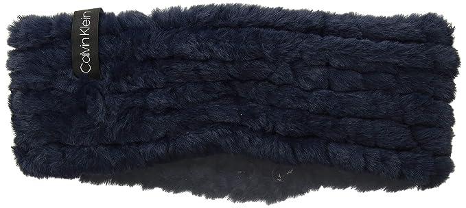 8af35c7cd7d Calvin Klein Women s Knit Faux Fur Headband