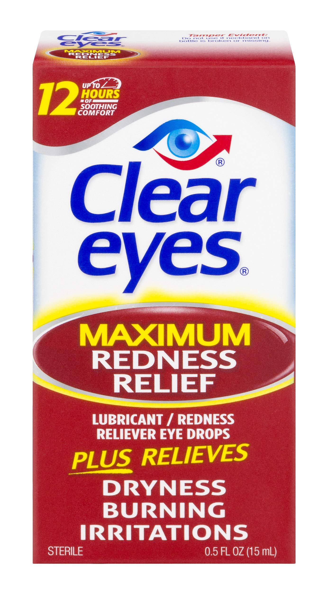 Clear Eyes   Maximum Redness Relief Eye Drops   0.5 FL OZ