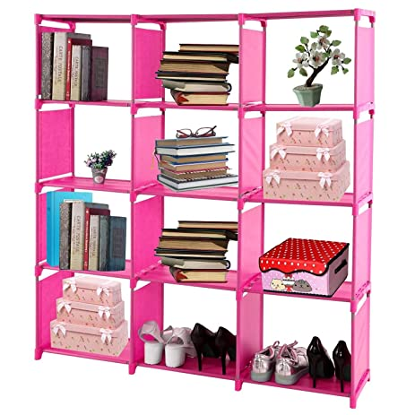 Amazon.com: Book Shelf Organizer Rack Unit Storage 5/12 Cube ...