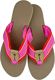 product image for Eliza B Pink Punch Ribbon Sandal with Almond Sole