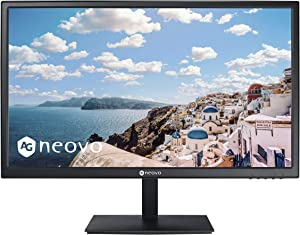 AG Neovo CD-2201 22 Inch LCD Monitor with Protective Glass Screen, HDMI Cable Included, 1080p, HDMI, VGA Inputs and Speakers, VA Panel Wide Viewing Angle, Flicker Free, Blue Light Filter…