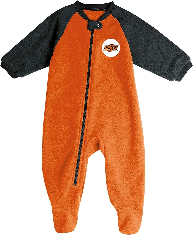 Pro Edge Infants NCAA Fleece Blanket Sleeper Footed Pajamas Romper