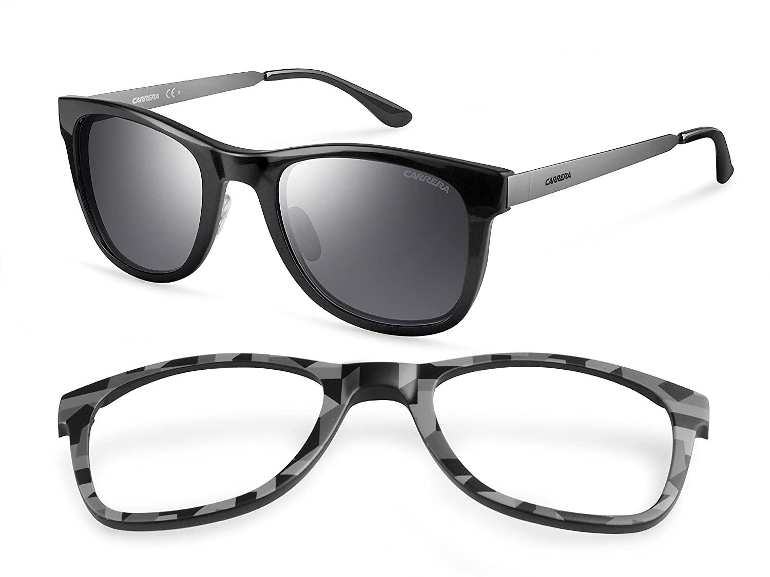 Carrera - Gafas de sol Rectangulares 5023/S Interchangeable, Negro