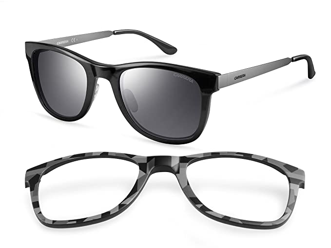 fb3fe8fb26 Carrera - Gafas de sol Rectangulares 5023/S Interchangeable, Negro:  Amazon.es: Ropa y accesorios