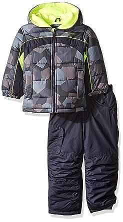 c56c4e3830 Amazon.com  London Fog Boys 2 Piece Camo Snow Pant Set With Jacket ...