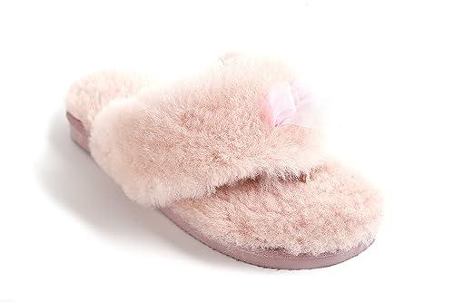 dcbf7bbe9de7 Lamb Women s Natural Australian Sheepskin Flip Flops Slippers ...