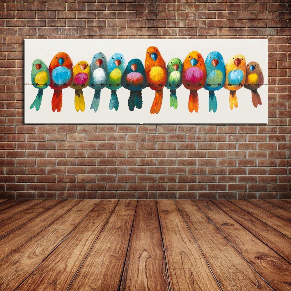 IPLST@ Vögel Ölgemälde Cartoon Tier Baby Infant Kinderzimmer ...