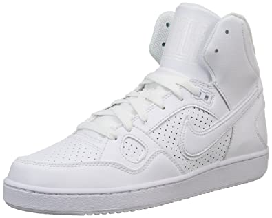 68b868434e3bf0 Nike Son Of Force Mid White Mens Trainers 8 UK  Amazon.co.uk  Sports ...