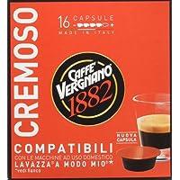 Caffe' Vergnano 1882 Capsule Cremoso - 8 confezioni da 16 capsule compatibili Lavazza a Modo Mio (tot 128 capsule)