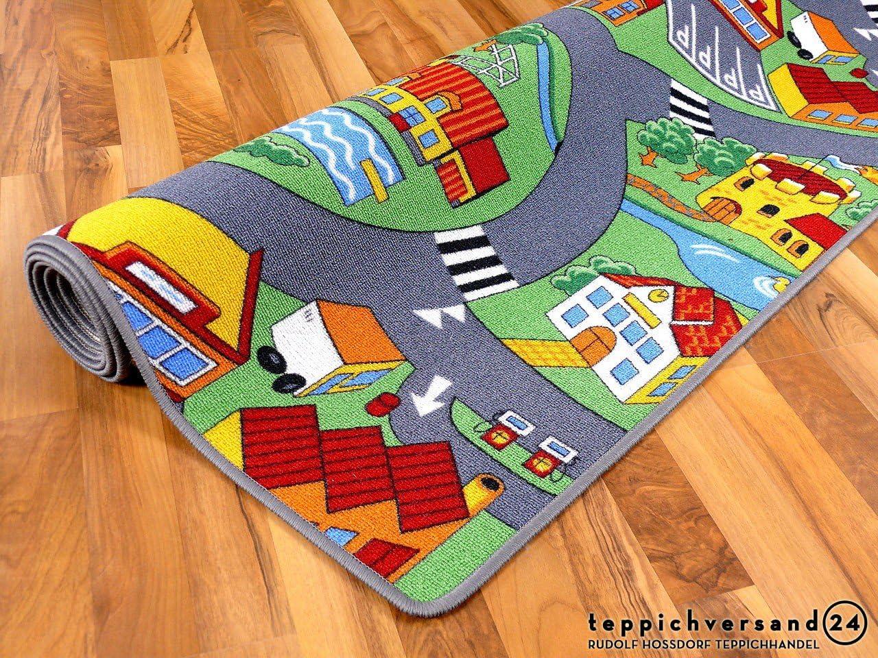Pueblo peque/ño Verde Snapstyle Alfombra Carretera Infantil de Juegos 17 tama/ños