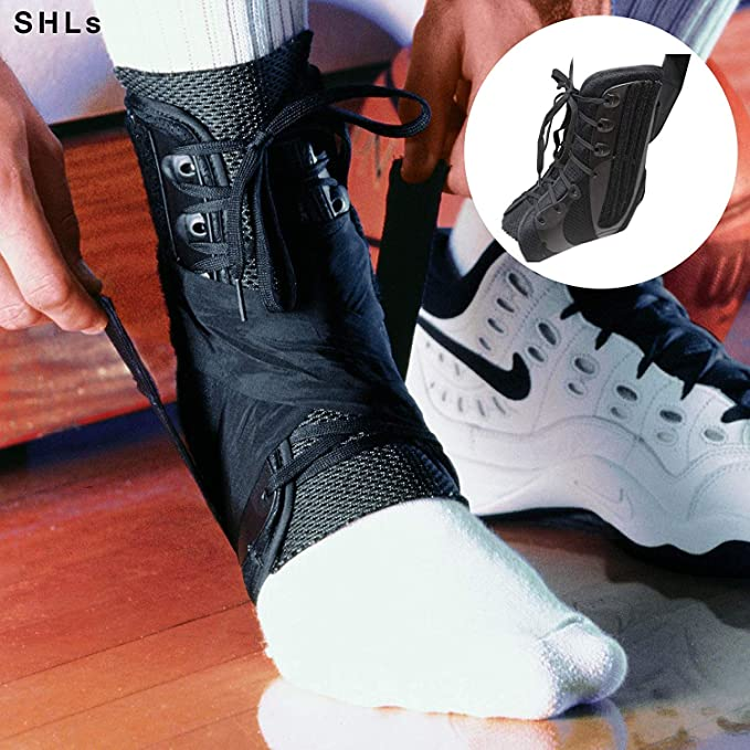 e1f9a813ead5b SHLs Ankle Braces | Ankle & Heel Support & Stabilizer for Achilles Tendon,  Plantar Fasciitis & Sprain | Compatible with Running, Walking, Basketball &  ...