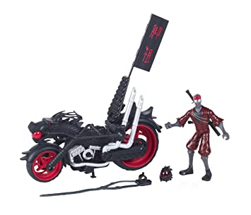 Teenage Mutant Ninja Turtles - Muñeco con Moto Dragon Chopper