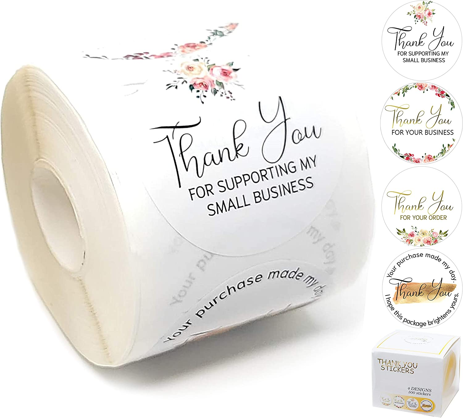 """2"""" Thank you for supporting my small business stickers