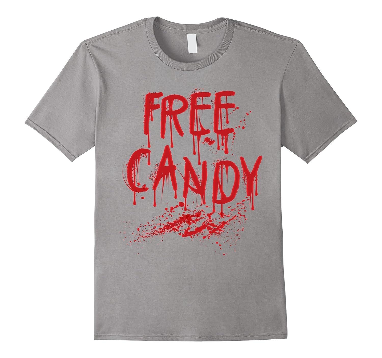 Free Candy Shirt Scary Bloody Halloween Shirt Men Women-FL