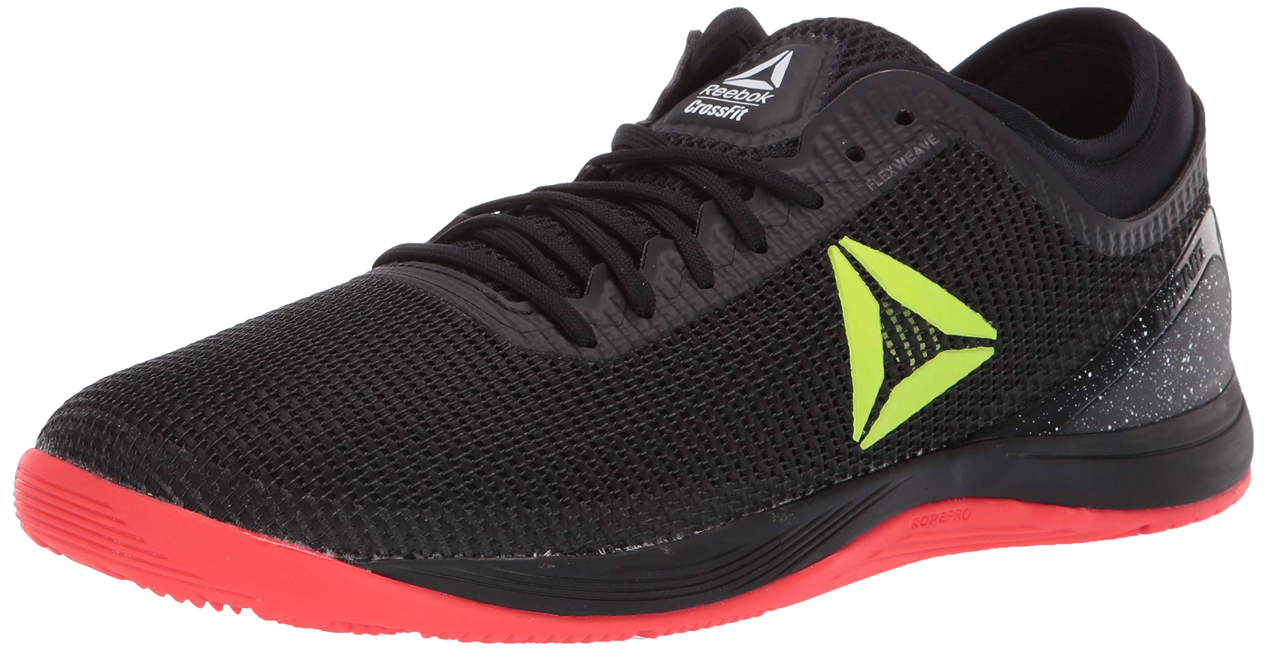 Reebok Men's CROSSFIT Nano 8.0 Flexweave Cross Trainer, Black/Neon Red/Neon Lime/White, 6.5 M US by Reebok (Image #1)