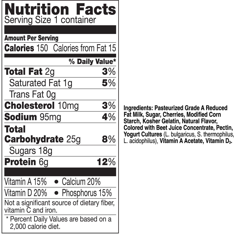 Yoplait Original Yogurt Low Fat Cherry Orchard 60 Oz Amazon Grocery Gourmet Food