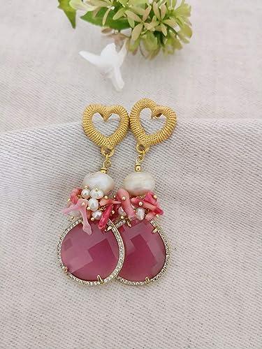 autentico autentico presentando SPEDIZIONE GRATUITA Orecchini a goccia con perle barocche ...