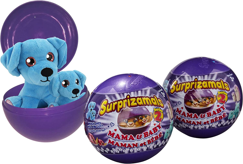 4 Ball Series 2 New Surprizamals Momma Mama and Baby Mystery Plush Ball LOT OF 4