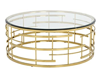 Amazon Com Sunpan 101485 Ikon Coffee Tables Gold Kitchen Dining