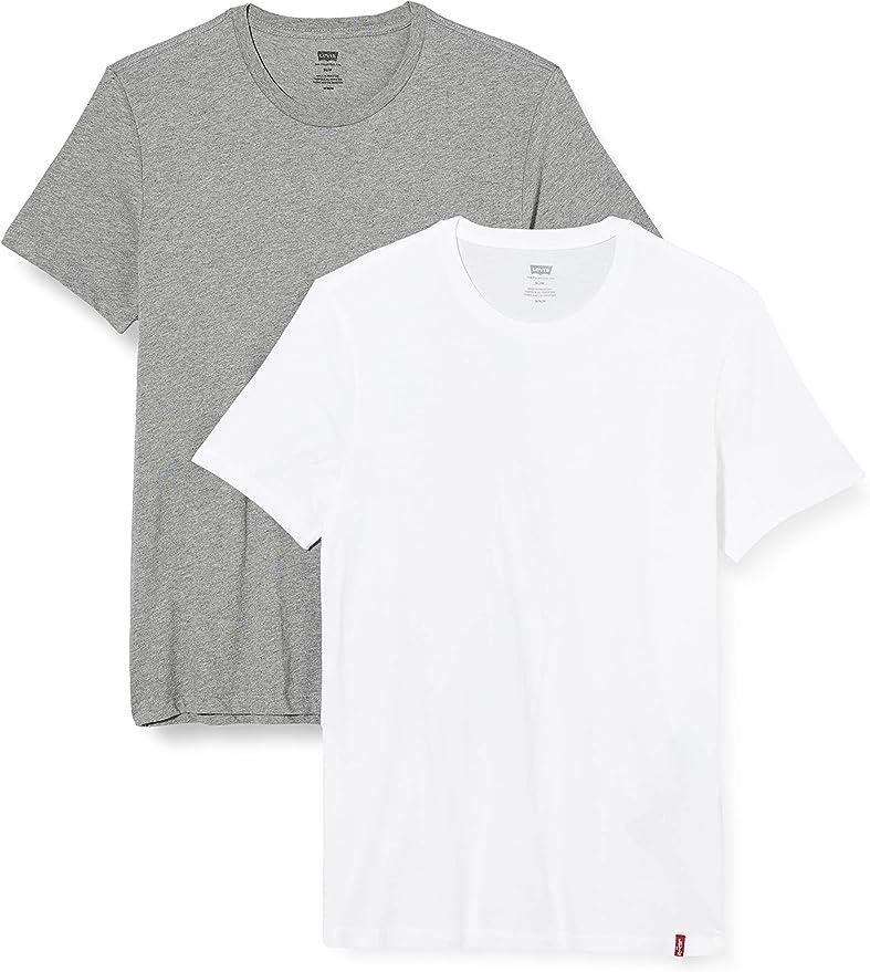 TALLA XS. Levi's Slim 2pk Crewneck 1 Camiseta (Pack de 2) para Hombre