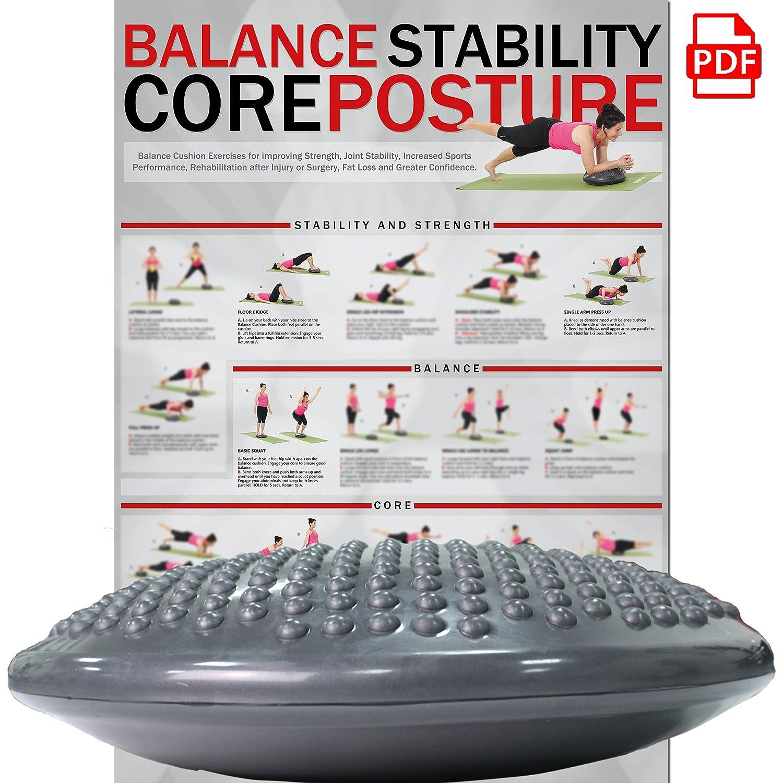 Coussin d'équilibre - Coussin à air - Coussin d'assise - Balance Pad - 37 cm