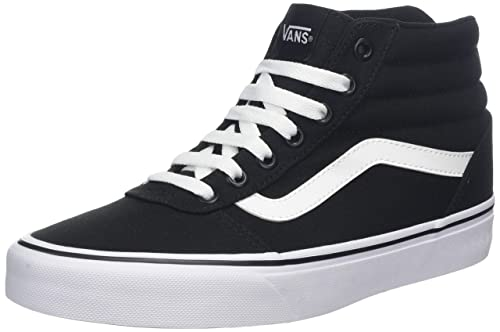 hot sale online 2d2a7 70045 Vans Ward Hi Canvas Nero Donna, Sneaker a Collo Alto