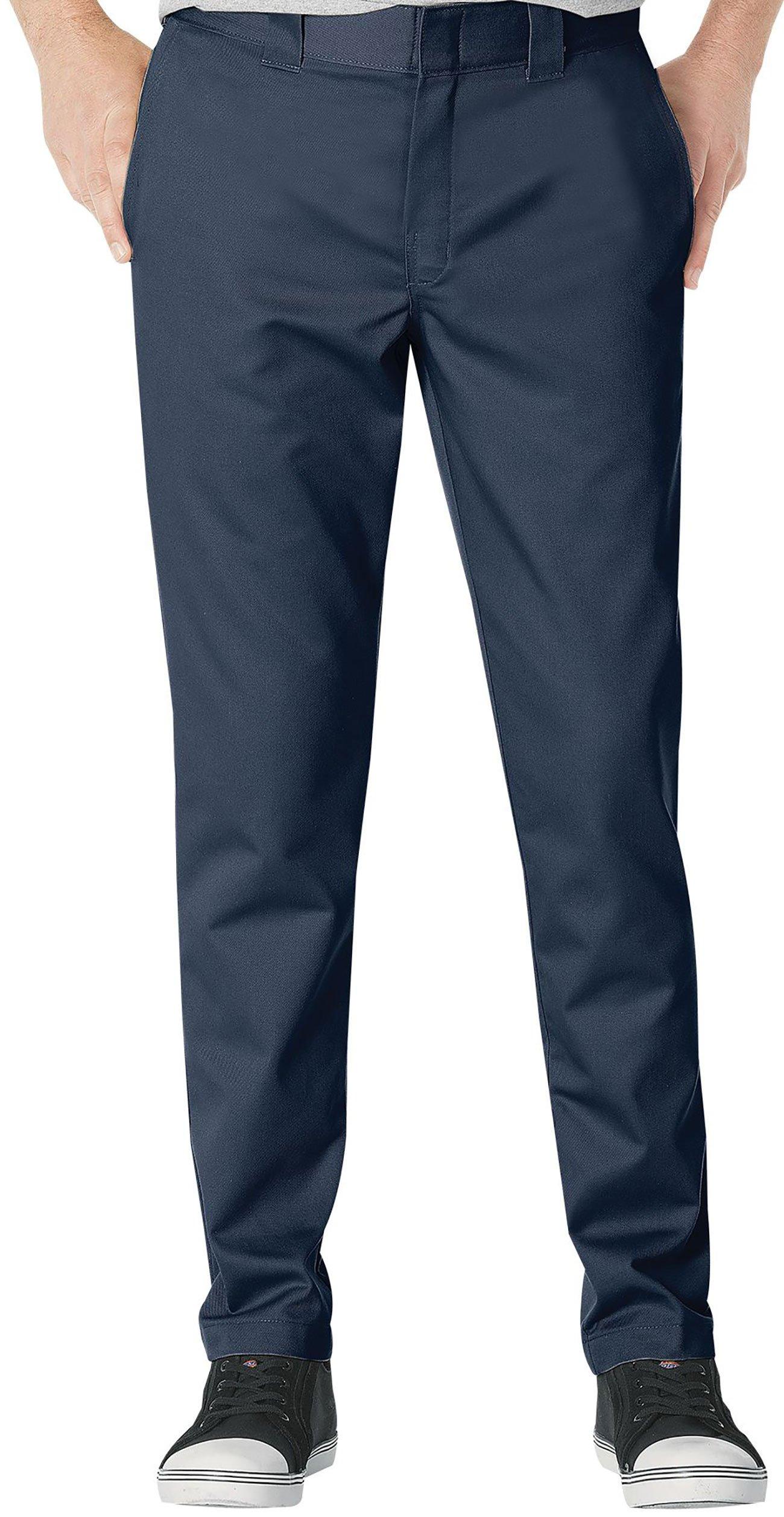 Dickies Mens Slim Fit Tapered Leg Ring Spun Work Pant, Dark Navy, 29W x 30L