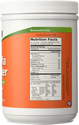 Alfalfa Powder Now Foods 1 lbs Powder
