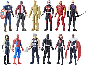 Avengers Titan Hero Series 12 Pack, Action Figures, Ages 4 andUp(Amazon Exclusive)