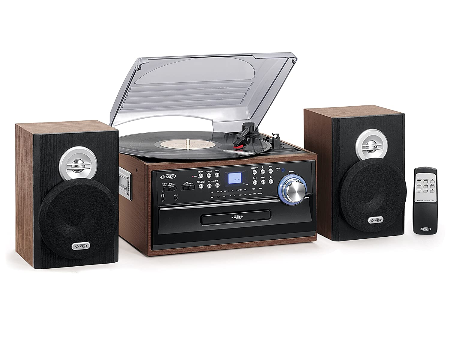 Jensen JTA-475 Turntable with Cd, Cassette, Am/Fm Radio JTA-475B Accessory Electronics Home Audio & Theater