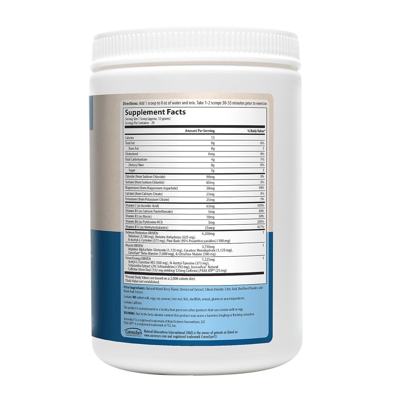 Boost impulsado, Pre-Entrenamiento, Mezcla de bayas, 12.3 oz (350 g) - MRM: Amazon.es: Salud y cuidado personal