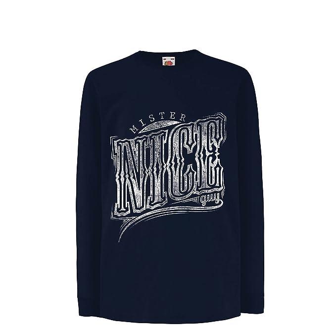 lepni.me Niños/Niñas Camiseta Mister Nice Guy - Eslogan sarcástico, gráficos Divertidos