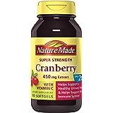 Nature Made Super Strength Cranberry + Vitamin C Softgels 60 Ct