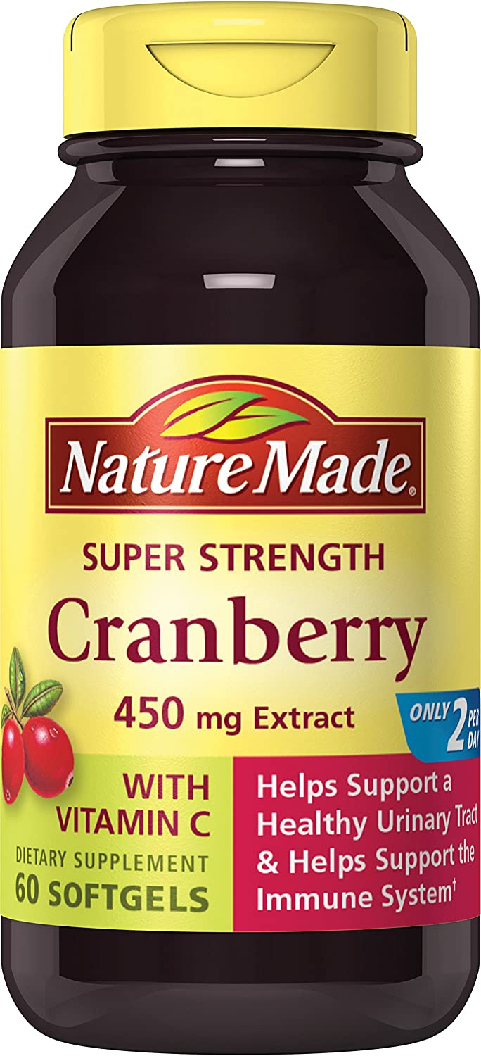 Nature Made Super Strength, Cranberry ( 450 mg Extract) with Vitamin C, 60 Softgels 海外直送品 B003UZOX96