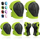 Kids Protective Gears SKL Knee Pads for Kids Knee and Elbow Pads with Wrist Guards 3 in 1 for Skating Cycling Bike Rollerblad