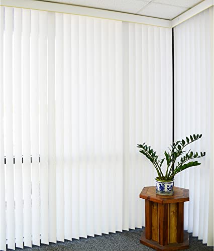 DALIX White Vertical Replacement Blinds Slats Sliding Door Window Patio 12 Pack