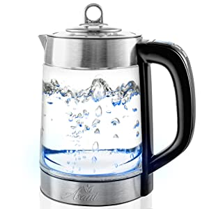 Double Wall Safe Touch Electric Kettle with Digital Temperature Control & Spout Filter | BONUS Tea Infuser | 1.7L BPA-Free Boiler | Fast-Boiling 1500W | Cordless Electric Kettle for Tea & Coffee
