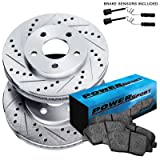Fit 2012-2013 Mercedes-Benz ML350 Front Drill Slot Brake Rotors+Ceramic Pads