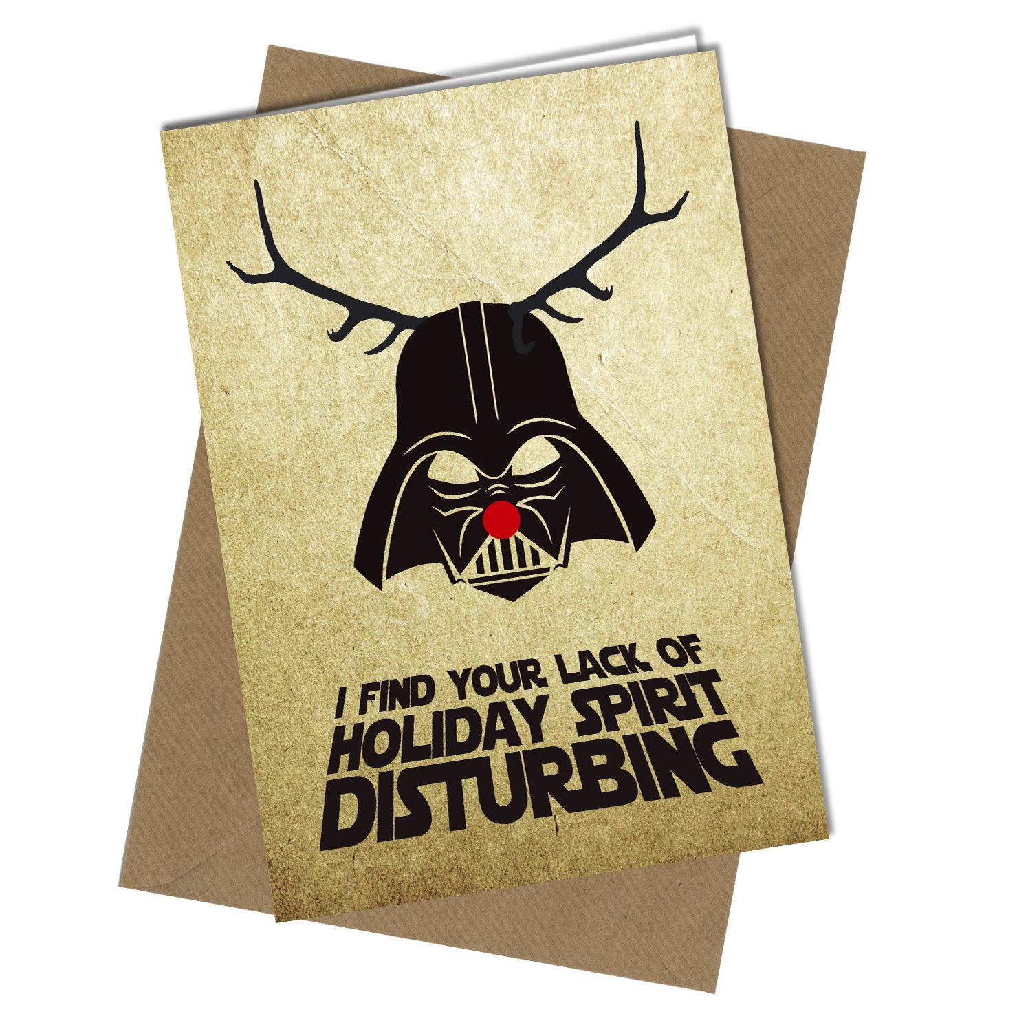 #410 CHRISTMAS CARD Rude Greeting Card funny humour joke Star Wars Xmas Card A4 folded to A5 (210 x 148mm when folded) By: Close to the Bone Special Days