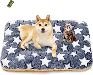 MICROCOSMOS Ultra Soft Pet (Dog/Cat) Sleeping Bed & Pad; Crate Mat; Machine Washable